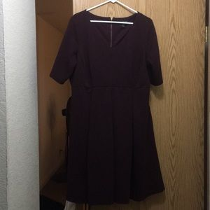Lane Bryan Fit and Flare Dress with Pockets